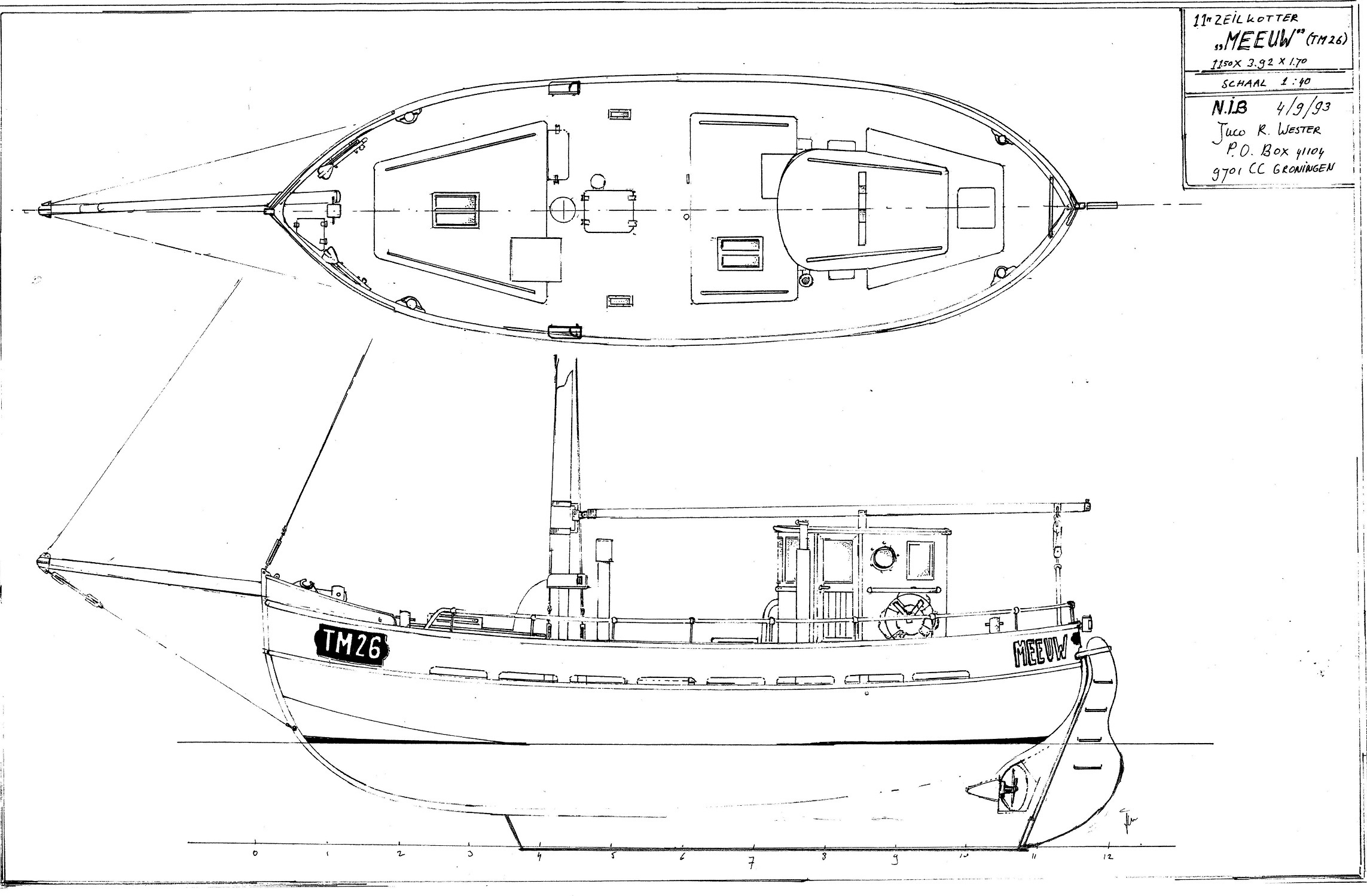 Kajuitzeilboten en Zeiljachten Zeilkotter Ex-vissersboot foto 7